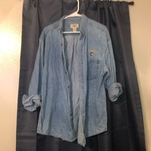 Tops - Long sleeve jean button up